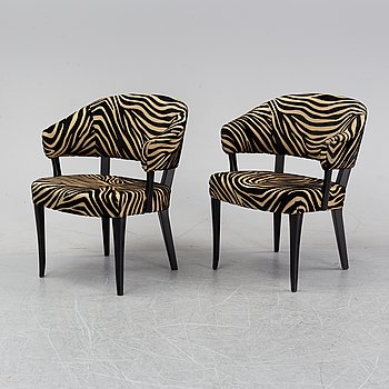 Carl Malmsten, a pair of easy chairs, 'Lata Greven', AB O.H. Sjögren.