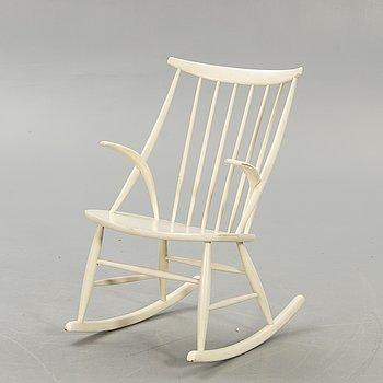 Illum Wikkelsö, rocking chair, for N Eilsersen, Denmark, 1950s-60s.