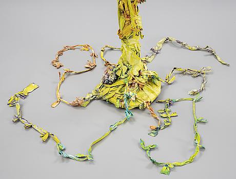 Katarina norling, acrylic, fabric, wood. executed in 2004.