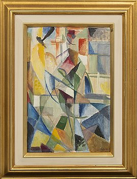 Jules Schyl, Jules Schyl, oil on canvas, signed and dated 1961 on verso.