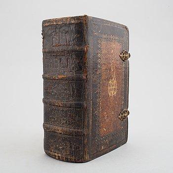 Baroque bookbinding. Provenance: De Geer / Finspong , Nils Gyldenstolpe, Thore Virgin.