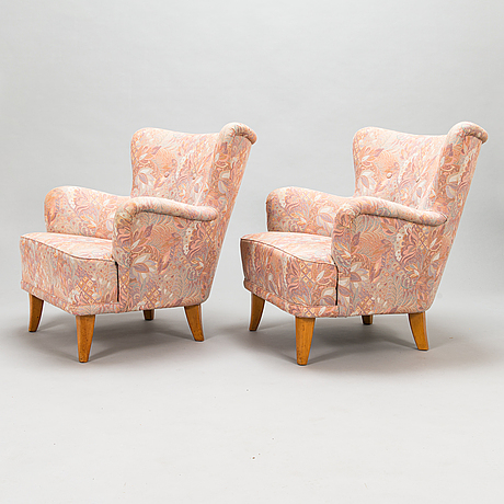 Fåtöljer, ett par, 1950-tal.