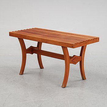 A teak bench, second half of the 20th Century.