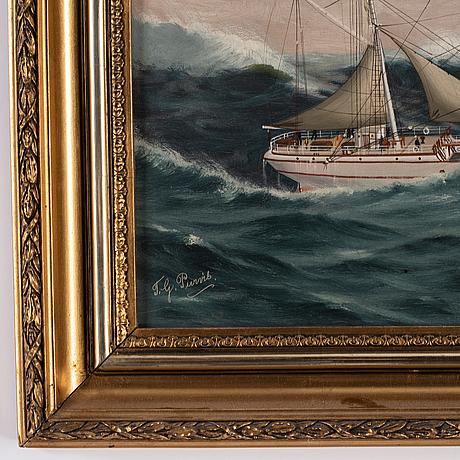 Thomas g. purvis, olja på duk, signerad.