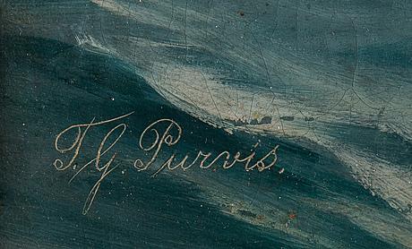 Thomas g. purvis, , olja på duk, signerad.