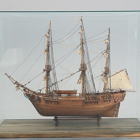"Skeppsmodell, ""bounty"", 1900-talets andra hälft."