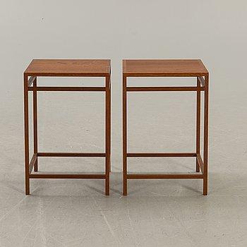 Aksel Bender Madsen & Ejner Larsen, bord 2 st. utfört av snickarmäster Willy Beck, 1950-tal, Danmark.