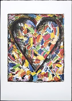 Jim Dine, a signed and numbered colour lithograph.