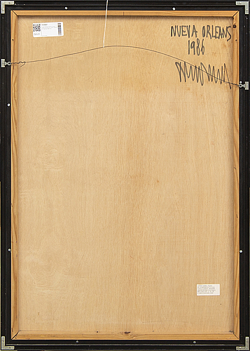 Tomás gômez gascón, a signed and dated mixed media.