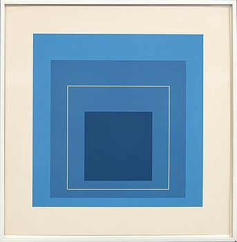 Josef Albers, a signed and numbered colour lithograph.