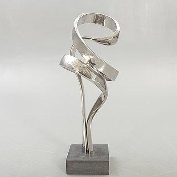 Nils Dahlgren, a signed stainless steel sculpture.