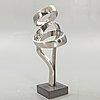 Nils dahlgren, a signed stainless steel sculpture.