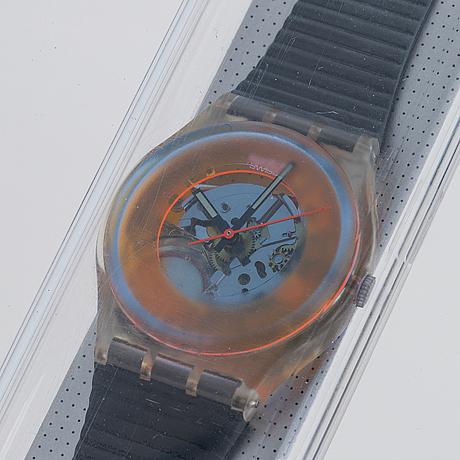 Swatch, dark vader, wristwatch, 34 mm.