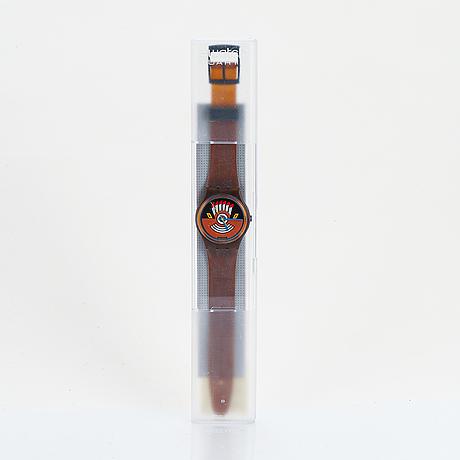 Swatch, ruffled feathers, wristwatch, 34 mm.