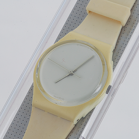 Swatch, white out, wristwatch, 34 mm.