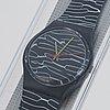 Swatch, marmorata, wristwatch, 34 mm.