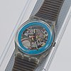 Swatch, disque blue, armbandsur, 34 mm.