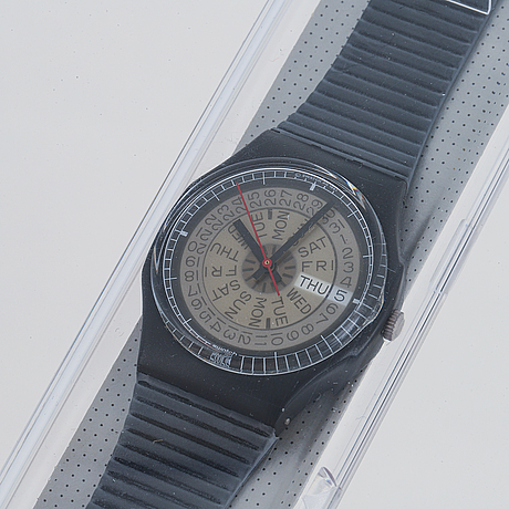 Swatch, tickertape ii, wristwatch, 34 mm.