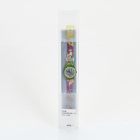 Swatch, byzanthium, wristwatch, 25 mm.