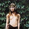Ewa rudling, färgfotografi föreställande natassja kinski, signerat.