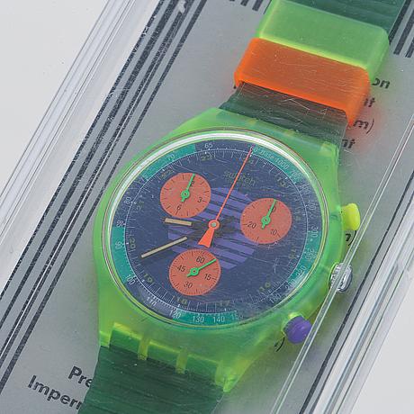 Swatch, neo wave, wristwatch, chronograph, 37,4 mm.