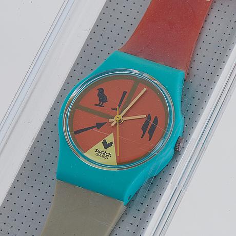 Swatch, horus, wristwatch, 25 mm.
