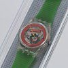Swatch, disque rouge, wristwatch, 25 mm.