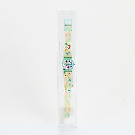 Swatch, bongo, wristwatch, 25 mm.