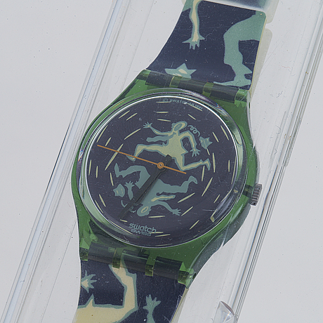 Swatch, crash, wristwatch, 34 mm.