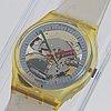 Swatch, jelly fish, wristwatch, 34 mm.
