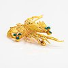 A 14k gold brooch with turquoises. helsinki 1967.