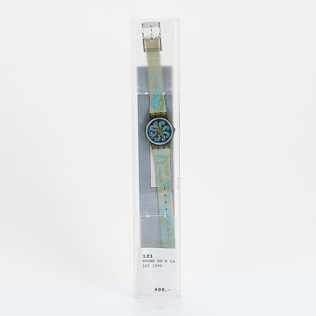 Swatch, brode d'or, wristwatch, 25 mm.