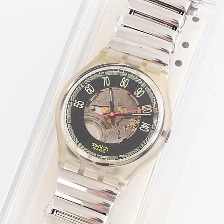 Swatch, red line, wristwatch, 34 mm.