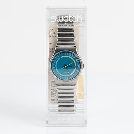 Swatch, stoplightá, wristwatch, 34 mm.