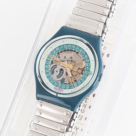 Swatch, steel lite, wristwatch, 34 mm.