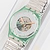 Swatch, silver rivet, wristwatch, 34 mm.