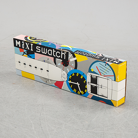 Swatch, maxi yugi, wall clock.
