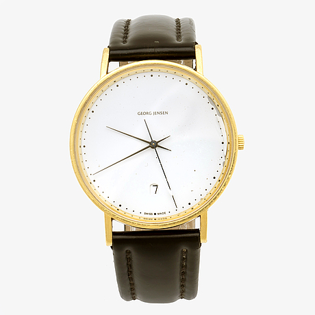 Georg jensen, armbandsur, 18k, design, henning koppel.