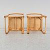 Six birch chairs by sven markelius, mid 20th century.