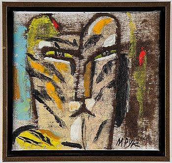 Madeleine Pyk, oil on canvas signed M Pyk.