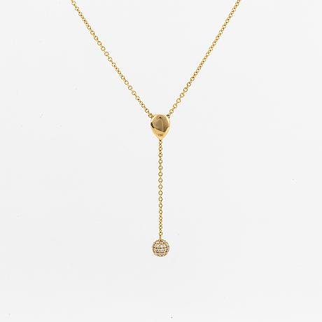 """Lwl jewellery. hängsmycke, """"movable necklace"""" 18k guld och briljantslipade diamanter."""
