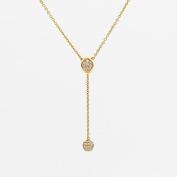 LWL Jewellery, necklace, 18K gold with briliant-cut diamonds.