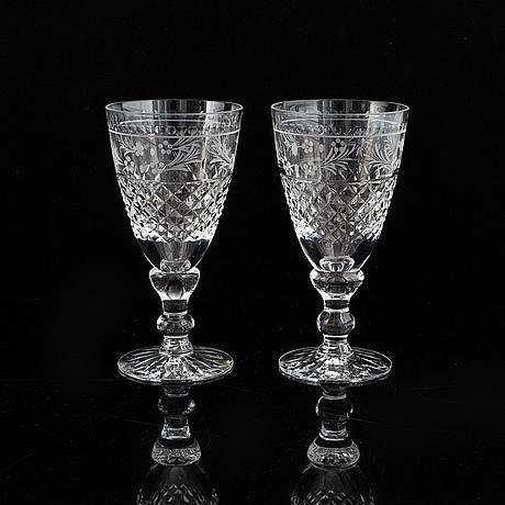 Fritz kallenberg, a 26-piece 'elvira madigan' glass service, kosta and kosta boda.