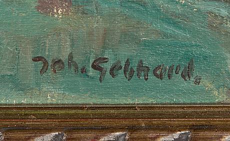 Johannes gebhard, olja på duk, signerad.