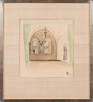 Hugo Simberg, watercolour, not signed.