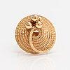Elis kauppi, a 14k gold ring. kupittaan kulta, turku 1975.