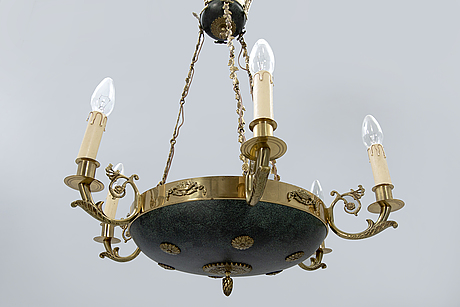 An empire style ceiling lamp around 1950.