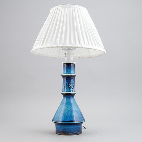 Carl-harry stålhane, a unique stoneware table light, rörstrand.