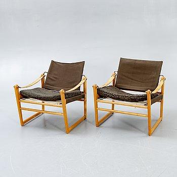 "Bengt Ruda, armchairs, a pair, ""Cikada"", IKEA, designed in 1964."