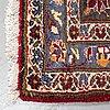 A carpet, kashan, ca 407 x 288 cm.